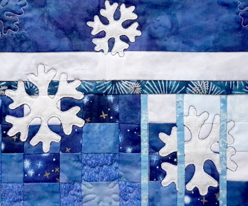 fractured winter snowflakes