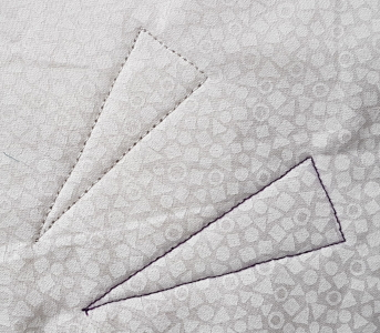 quilted triangles