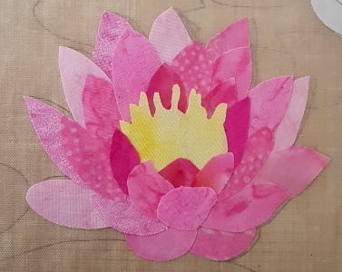 water lily flower applique