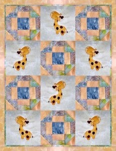 giraffe quilt with borders