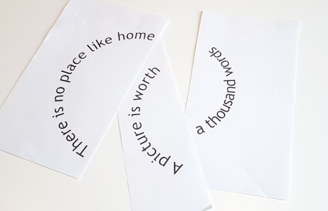 printed words