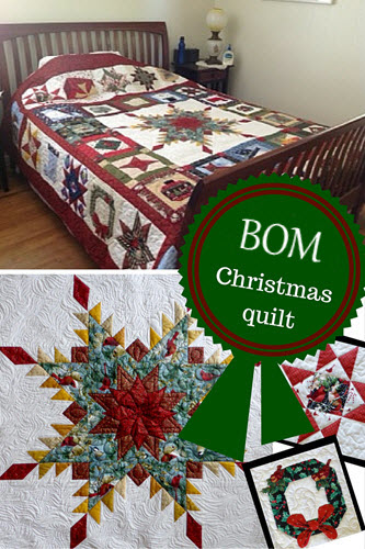 Christmas quilt block of the month pattern