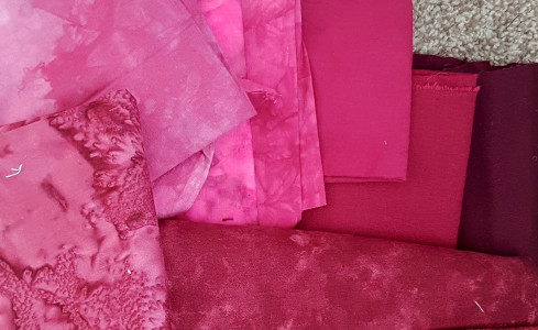 fabric pink reds