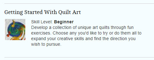 Getting Started with Quilt Art