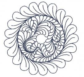 circle feather 4 75 x 4 72
