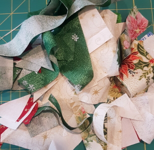 scraps from christmas block