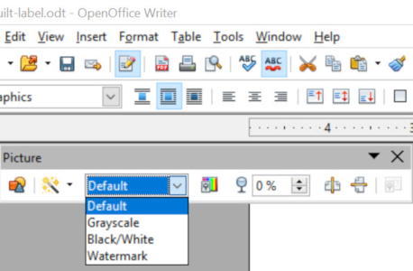 openOffice picture properties