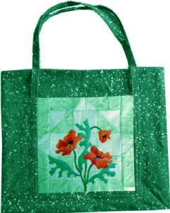 Free Poppy Pattern made into a tote