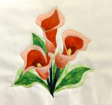 calla lily block applique