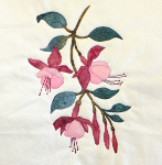 fuchsia block applique