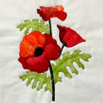 poppy block applique