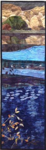 Across the Columbia by Anita Eaton - Perspective in Quilting