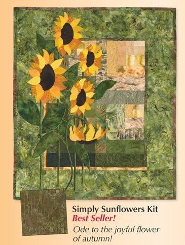 Simply Sunflower quilt pattern featured in Keepsake catalog