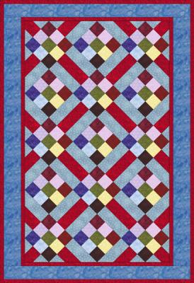 Nine patch & Rail Fence quilt sample
