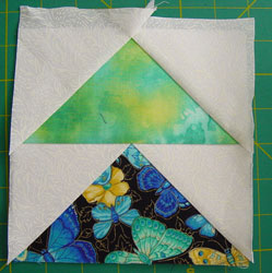 Block finished but not trimmed