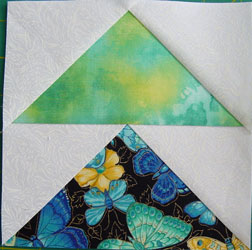 Block finished trimmed
