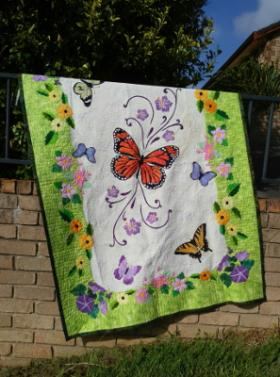 Spring Life quilt designed and made by Ruth Blanchet