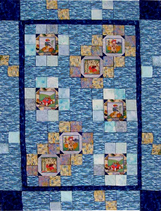 Stepping Stones with printed squares as feature blocks