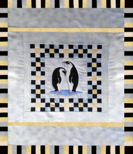 penguin quilt first 4th border