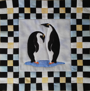 penguin with pieced border