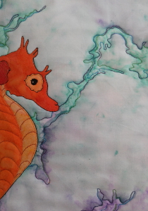 seahorse background quilting